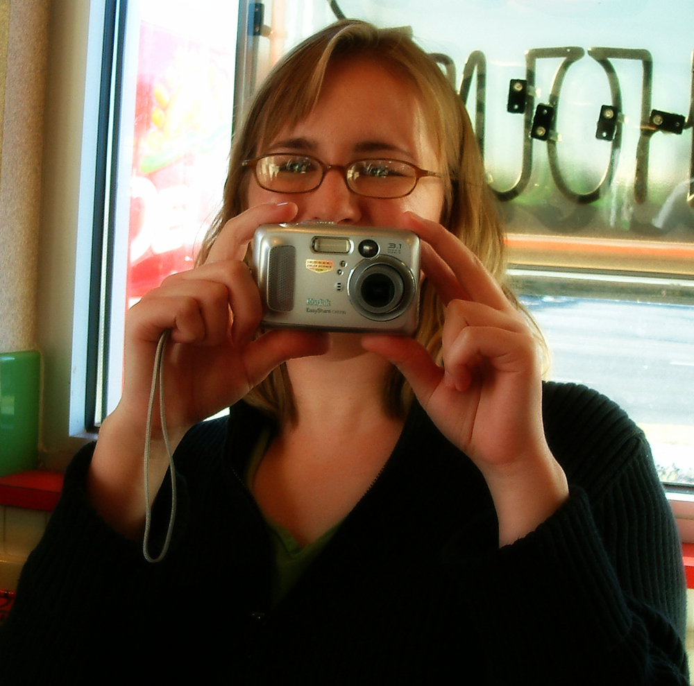 Don't you love this old school camera? A lot changes in ten years!