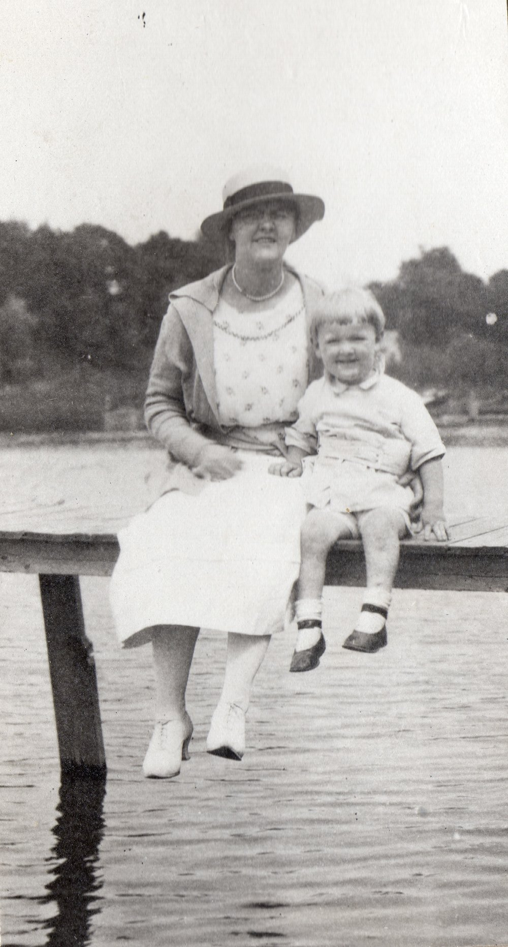Ruth & her nephew (my grandfather)