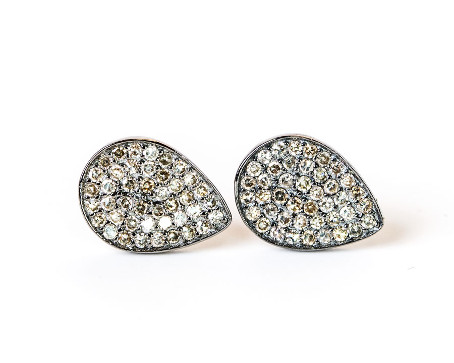 09d0725c5 Pave Diamond Pear Shaped Earring — Cindy Ensor Designs
