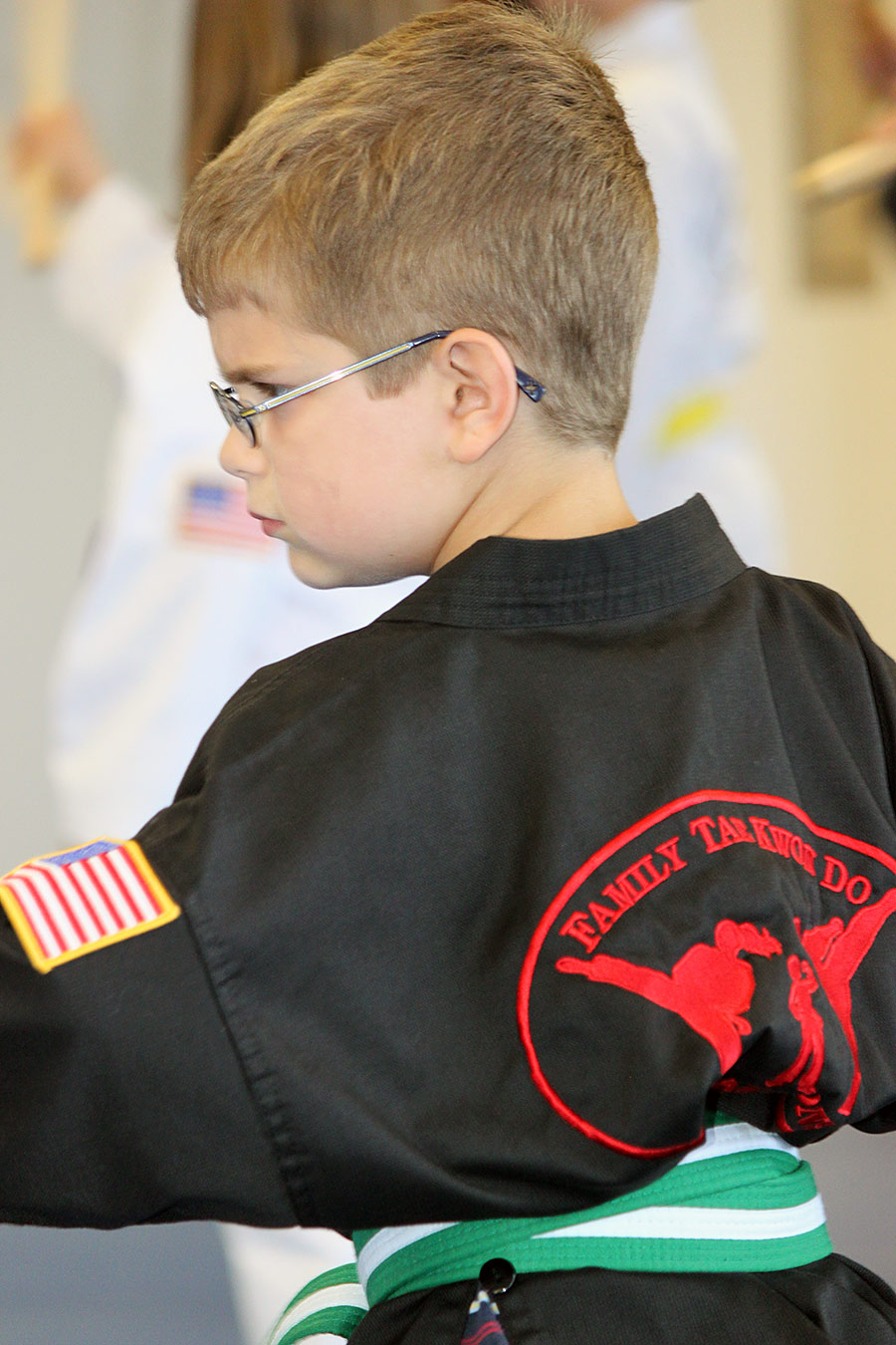 Tae Kwon Do helps to build self esteem and a strong work ethic.