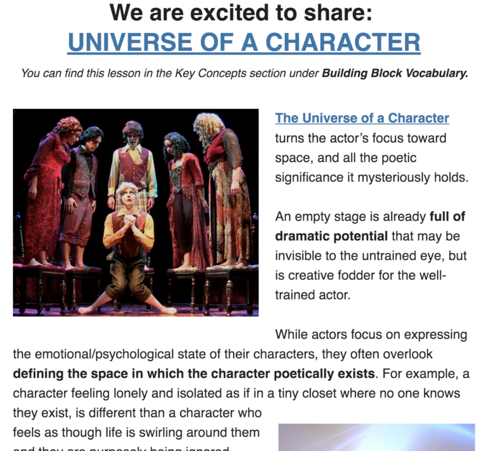 Margolis Method Universe of a Character Newsletter