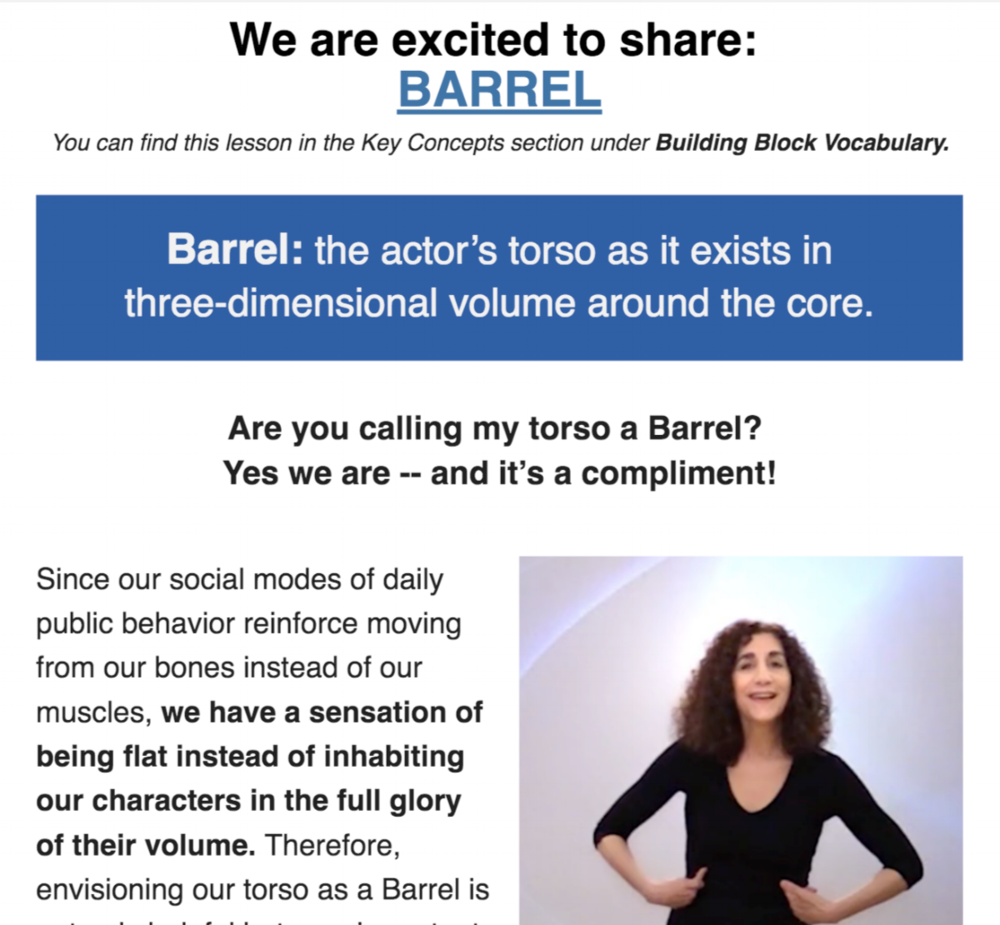 Margolis Method Barrel Newsletter