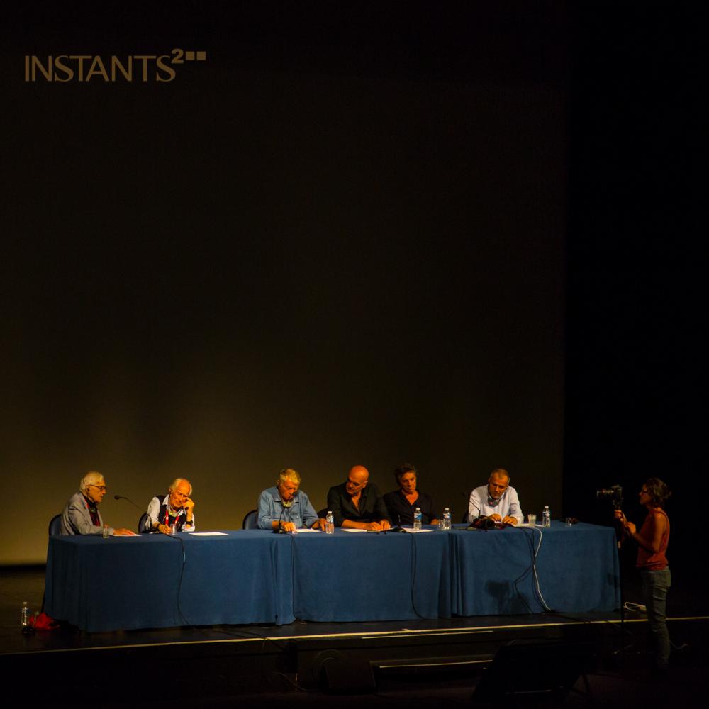 Perpignan, France - 05.09.2013 :War photography panel discussion @ Visa pour l'image avecJohn G. Morris,David Douglas Duncan, Don McCullin,Patrick Chauvel &Yuri Kozyrev.