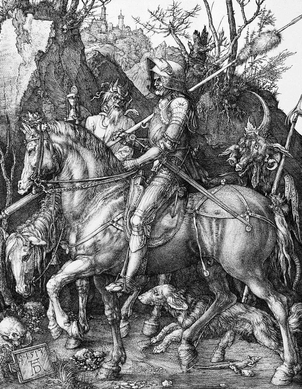 Ritter, Tod und Teufel (Knight, Death, and the Devil) Dürer