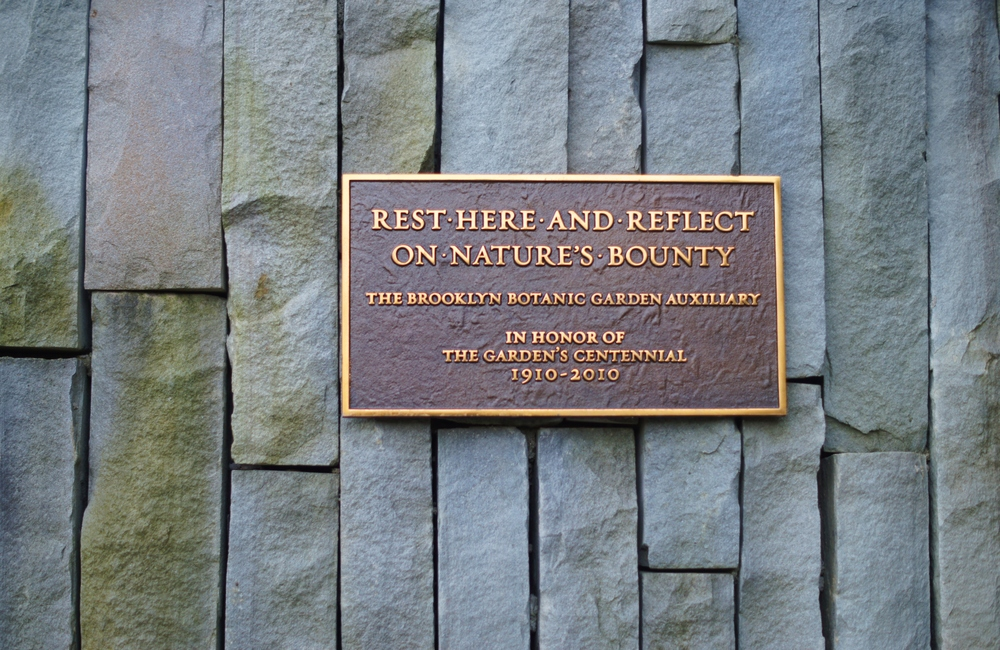 Rest Here & Reflect // Brooklyn Botanic Gardens
