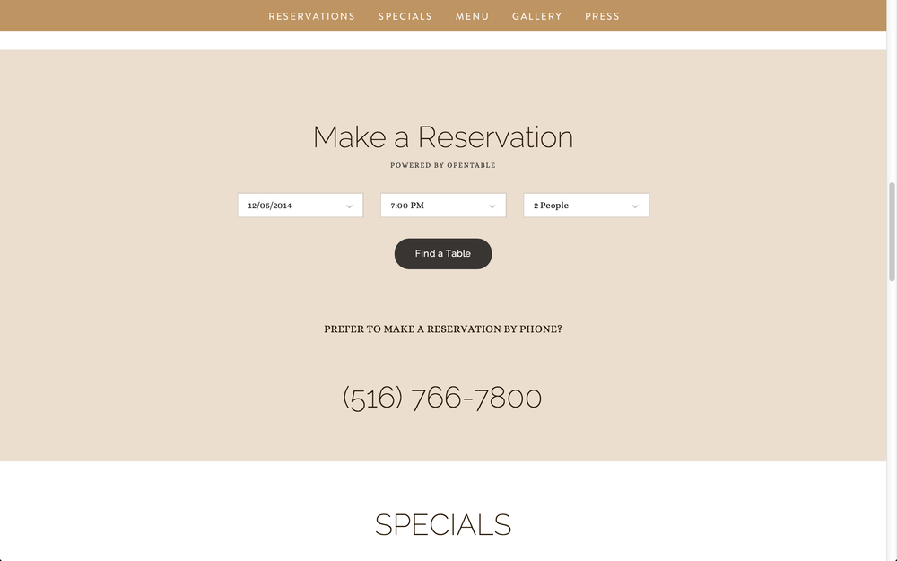 Interactive Reservations with OpenTable