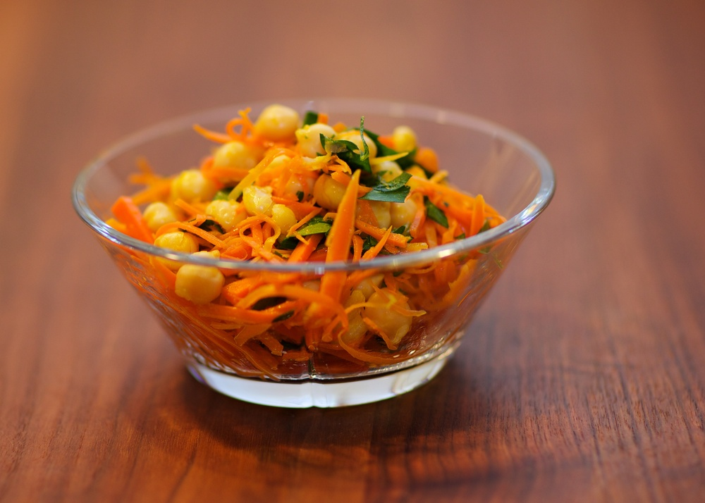 Chickpea and carrot salad a la Thomas Keller.