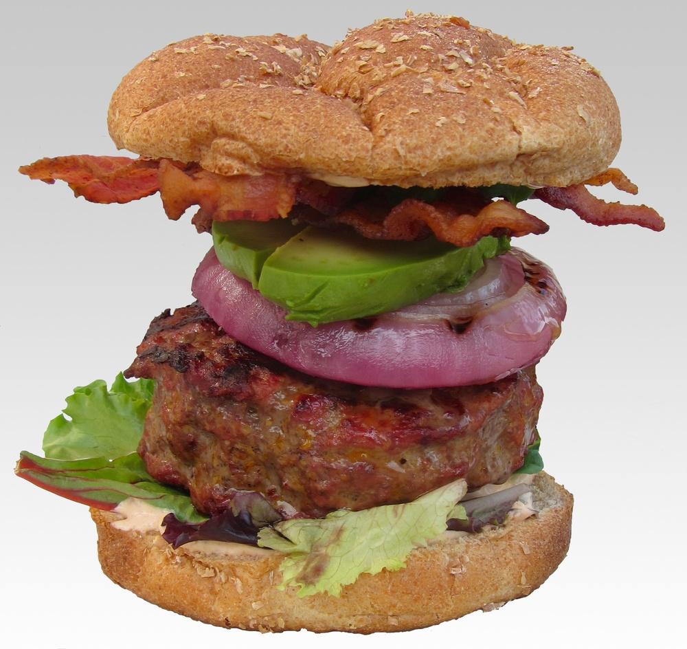 Triple-Smoke Burger — Sweet • Sour • Savory