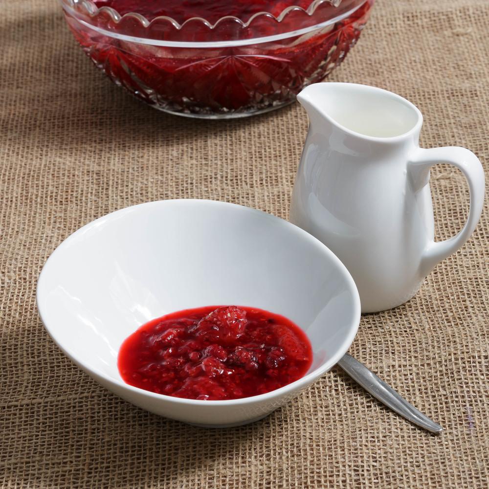 Rødgrød med Fløde - Berry Pudding with Cream