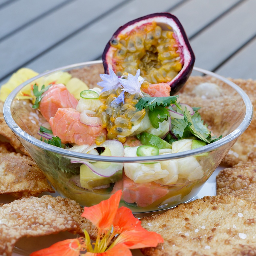 Passion fruit Ceviche