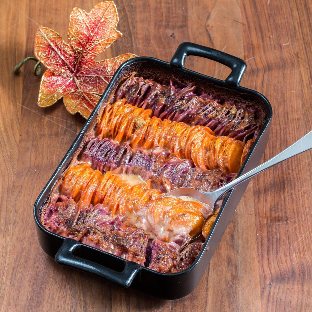 Scalloped Hasselback Sweet Potatoes — Sweet • Sour • Savory