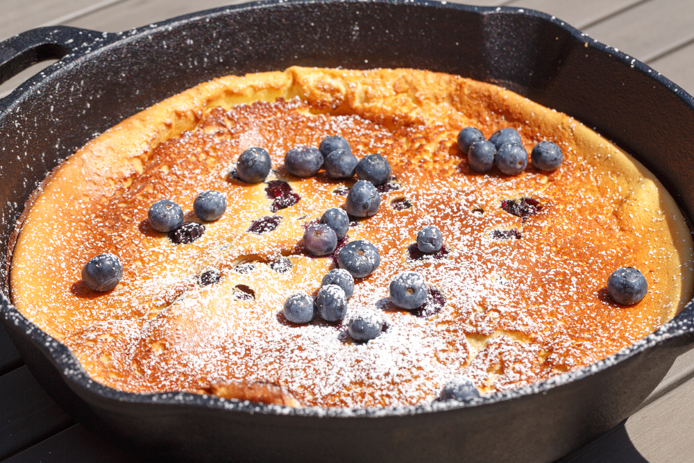 Dutch Baby with Lemon and Blueberries