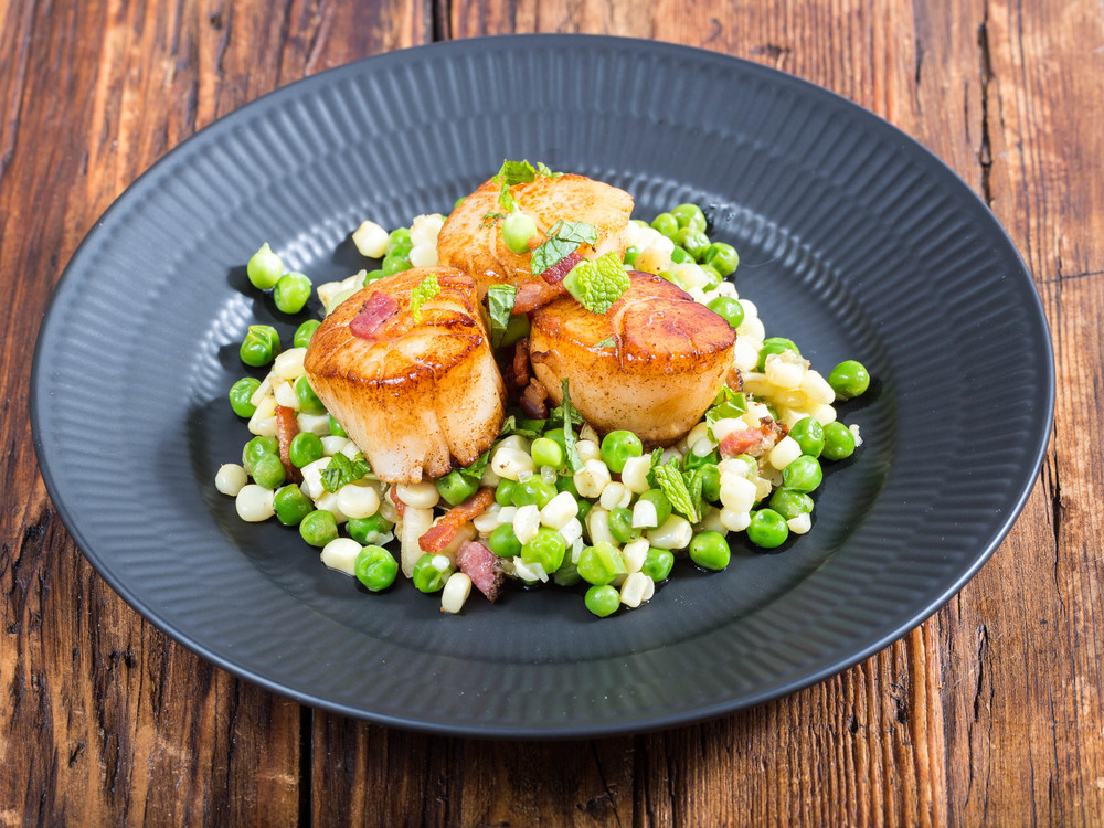 Scallops with Elderflower Syrup