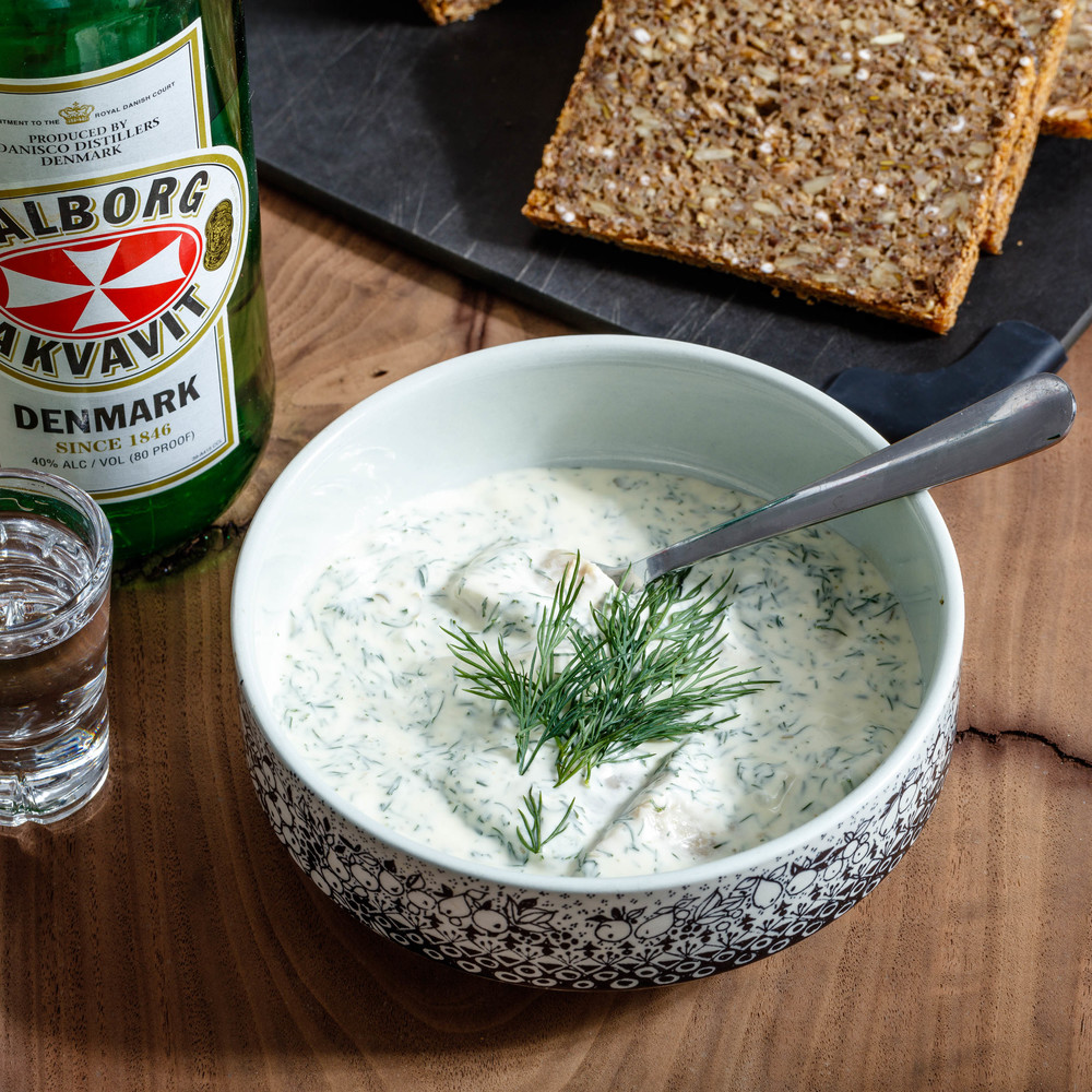 Pickled Herring in Dill Dressing
