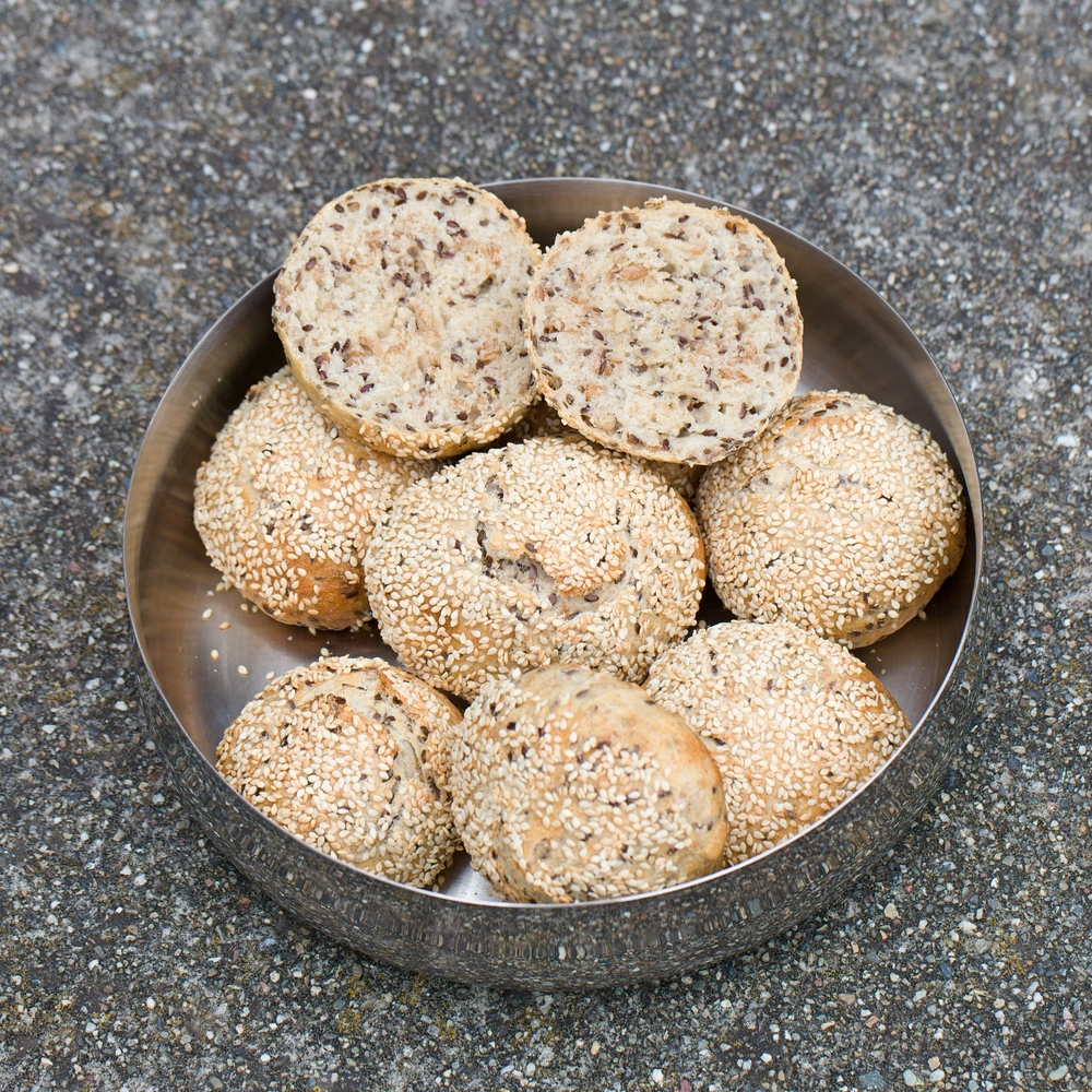 3-Grain Sourdough Rolls
