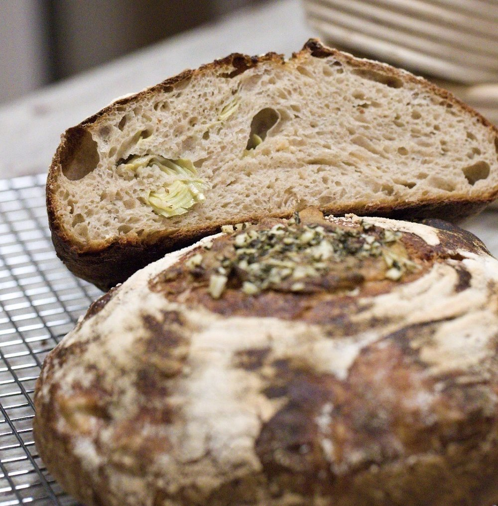 Artichoke Parmesan Sourdough Bread