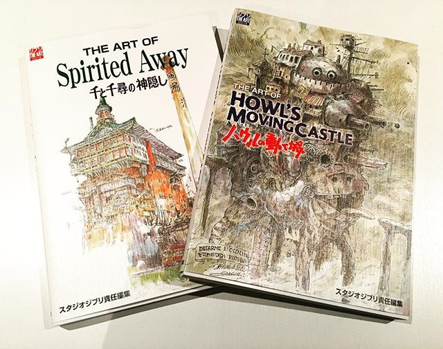 One of the best things we brought back from Japan!! Stunning artwork and storyboard from my favourite movies!!! #japan #studioghibli #hayaomiyazaki #spiritedaway #howlsmovingcastle