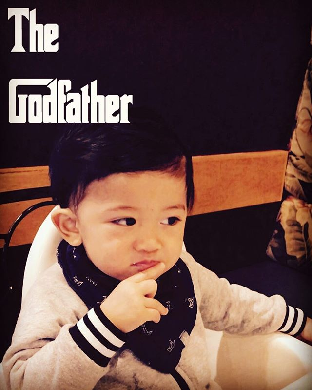 The Godfather #babytheo #cutebaby #memes #memesdaily #thegodfather