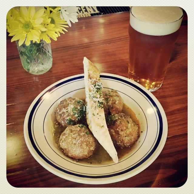 It's a great day for #balls and #beers!  Today's ball of the day is the Mexi Ball with tomatillo salsa verde. Pair it with a cold pint! #howdoyouball #beerbourbonballs