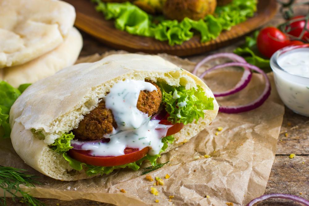 ©   Annashepulova   |   Dreamstime.com   -   Falafel With Fresh Vegetables In Pita Bread Photo