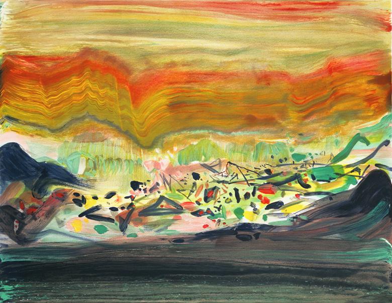 田園 63 x 82cm 2008 原創石版畫 版幅150