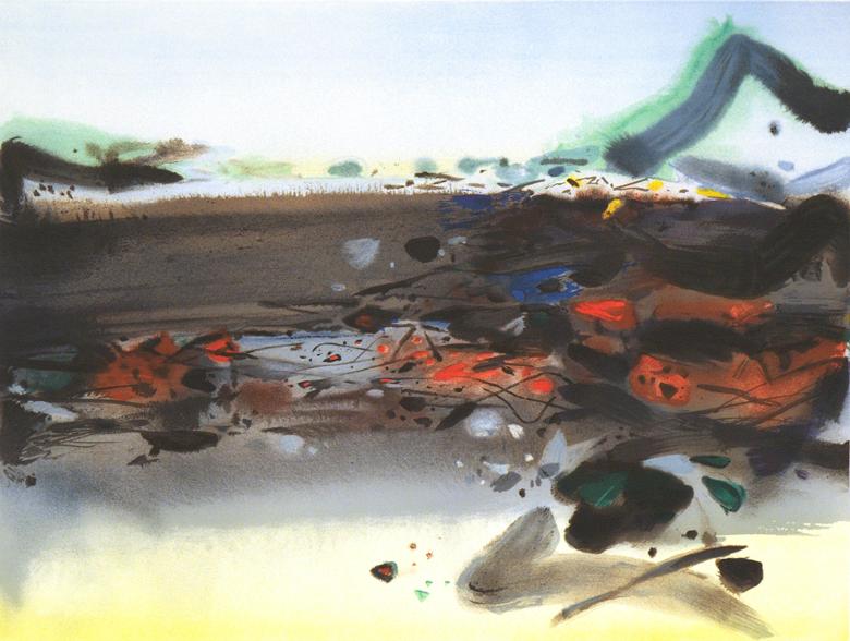 曠野 63 x 82cm 2007 原創石版畫 版幅150
