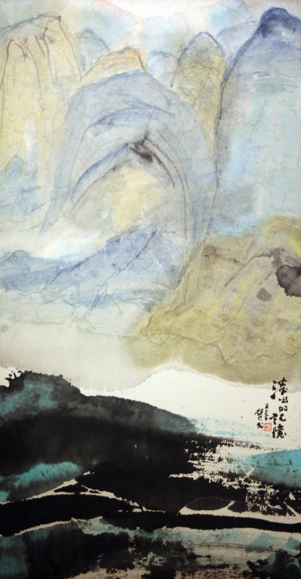 淡出的記憶 135 × 68cm 2006 墨彩紙本