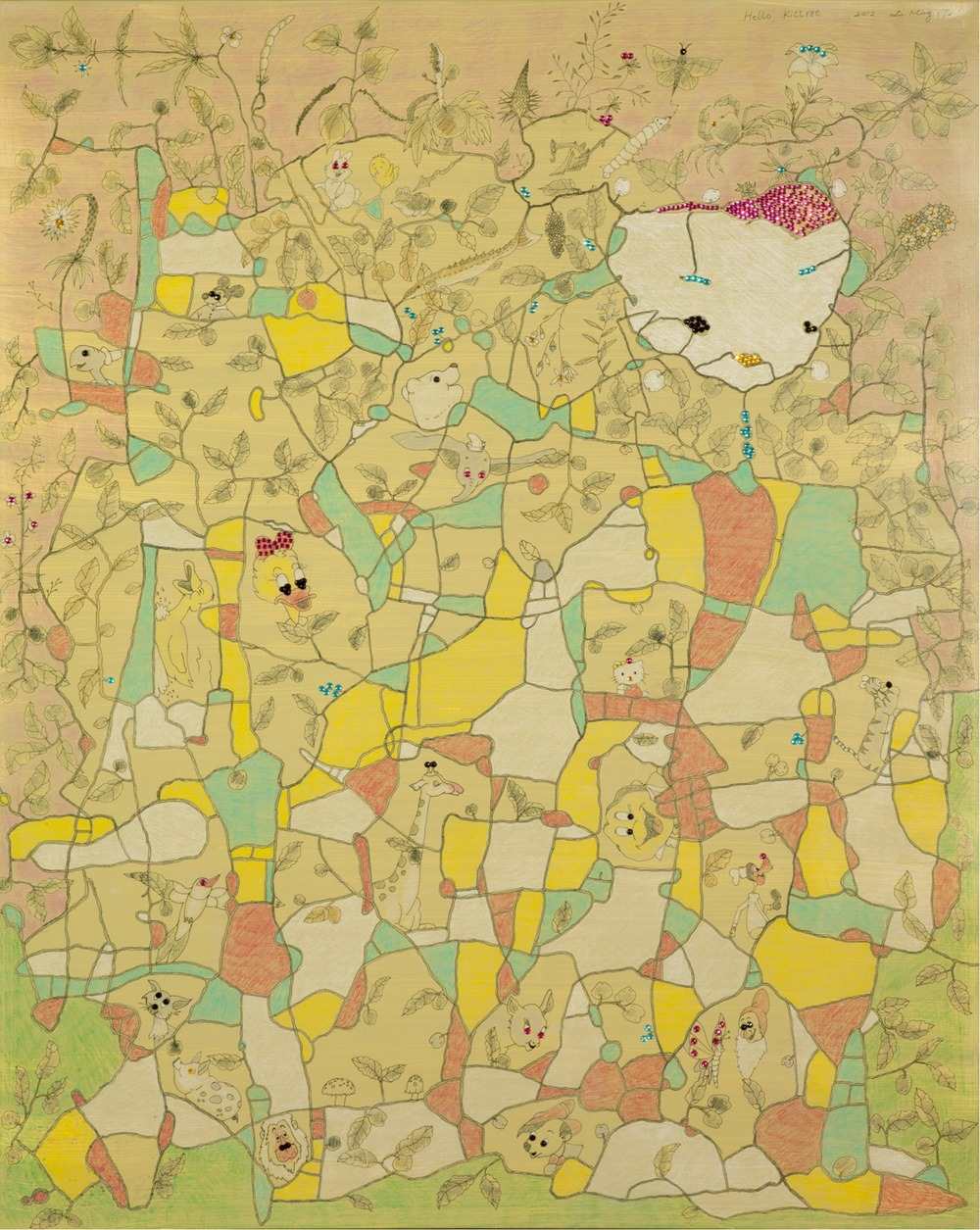 Hello Kittree  130x162cm  2012  複合媒材