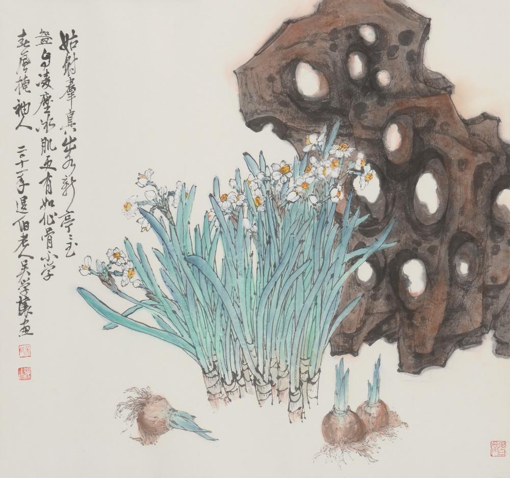 水仙圖 64.5x69.5 cm 2011 水墨紙本