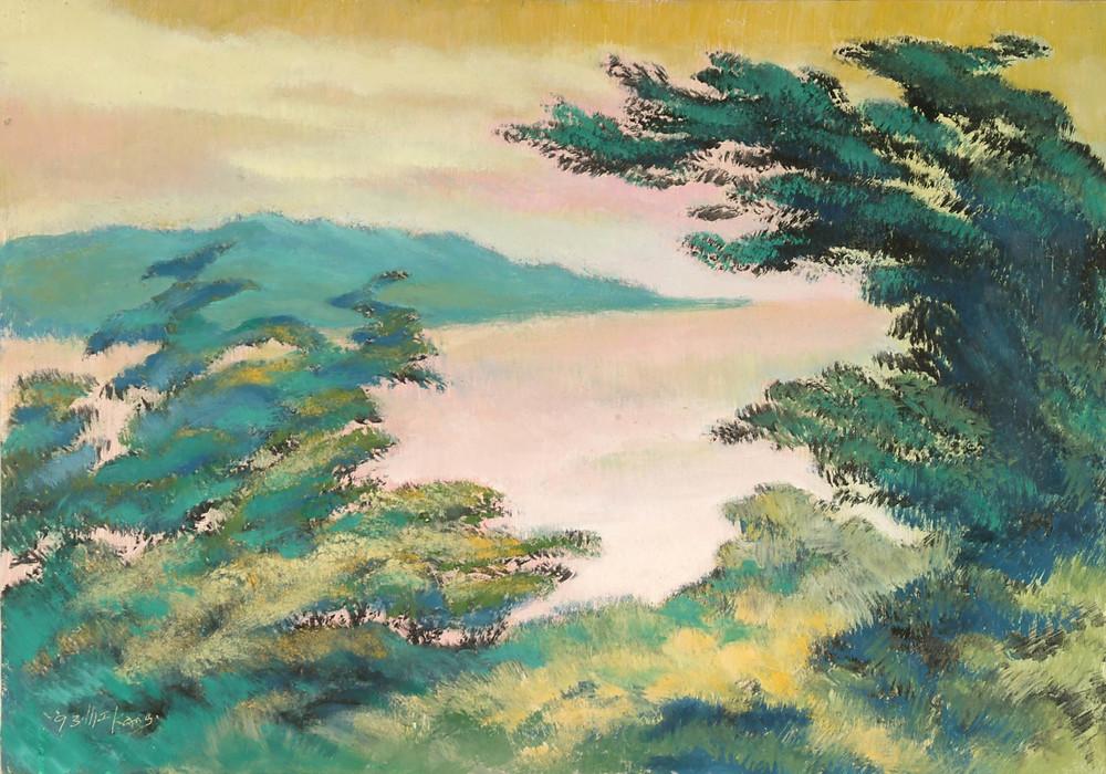 淡水風景  53x74 cm  油畫  1990