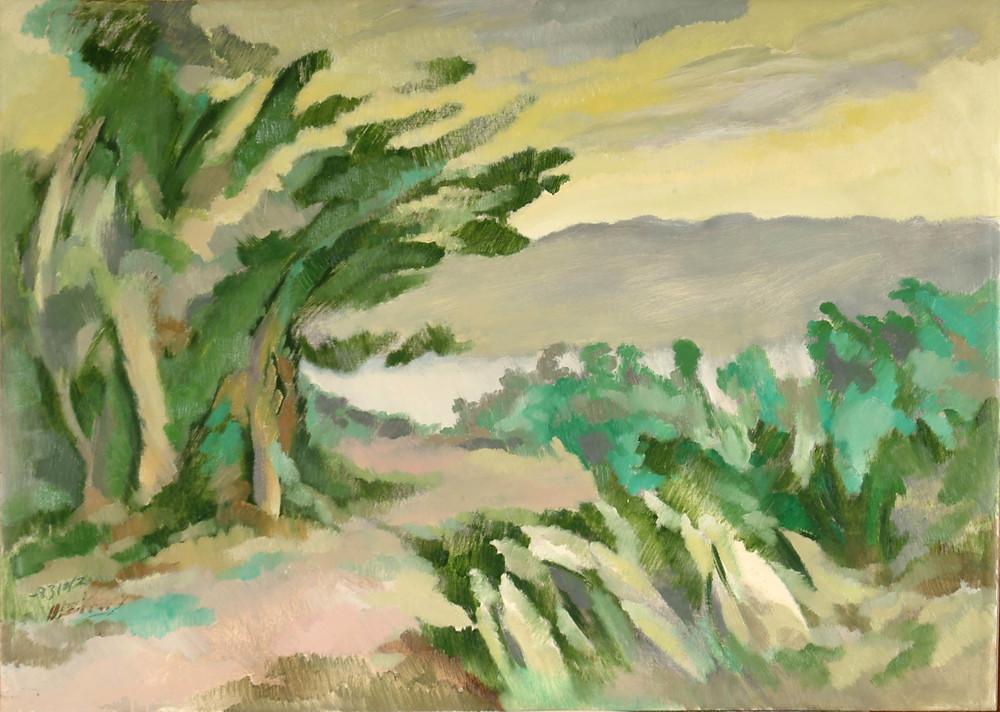 鄉  64x90  油畫  1987