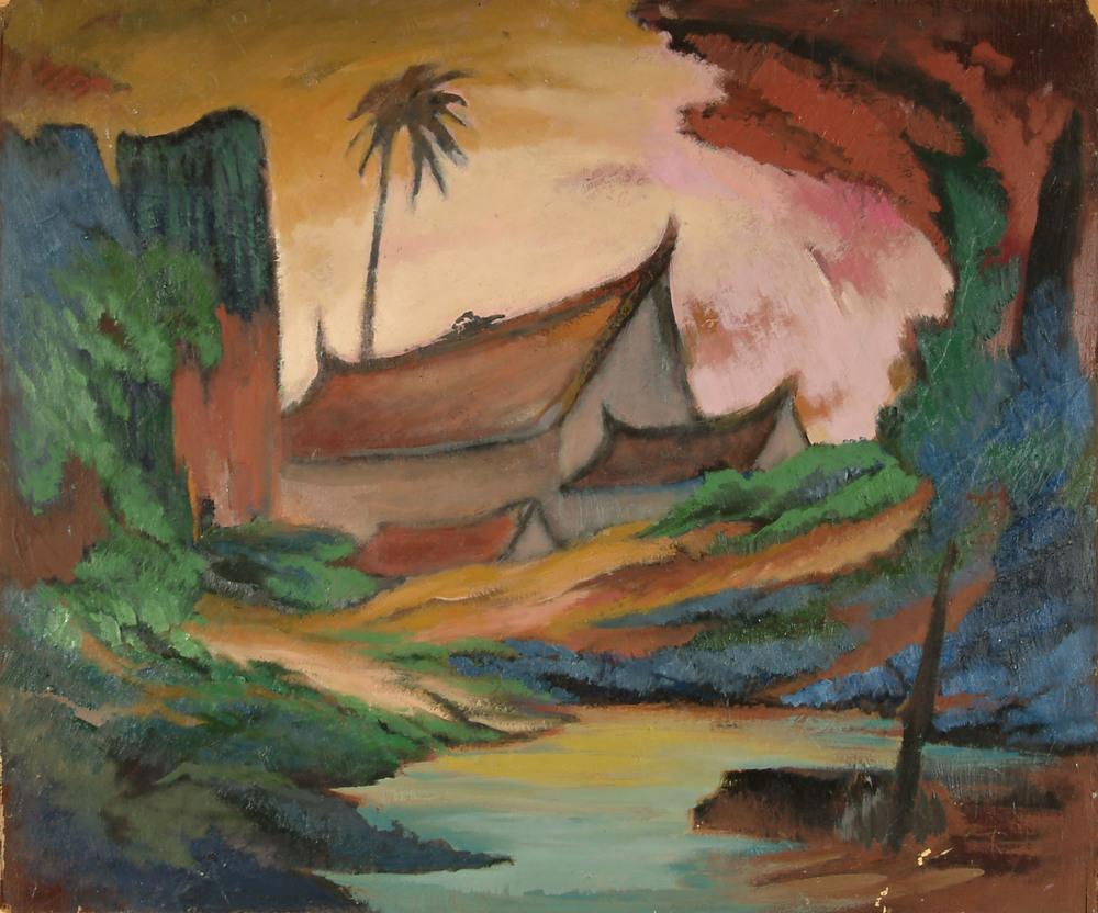 黃昏鄉間  61x73  油畫  1974