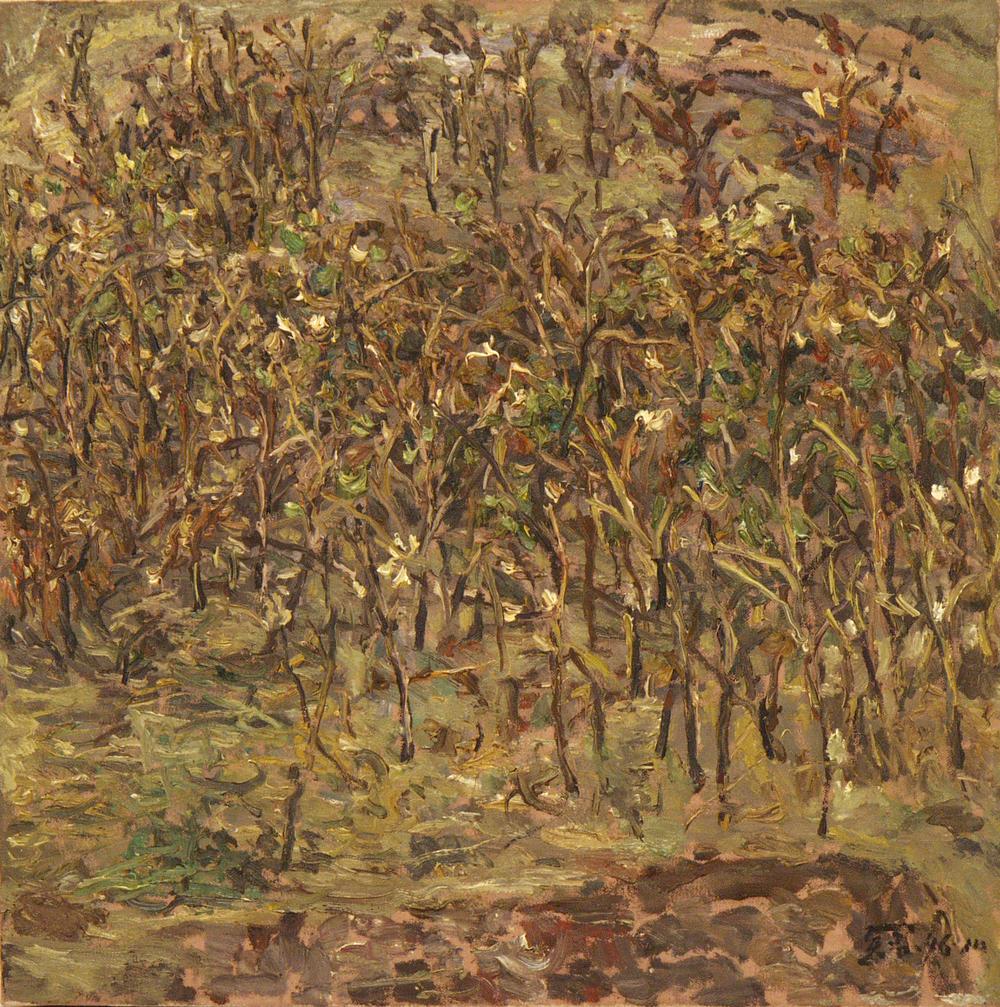 馮曉東 禪荷 60x60 cm 油彩畫布 1996