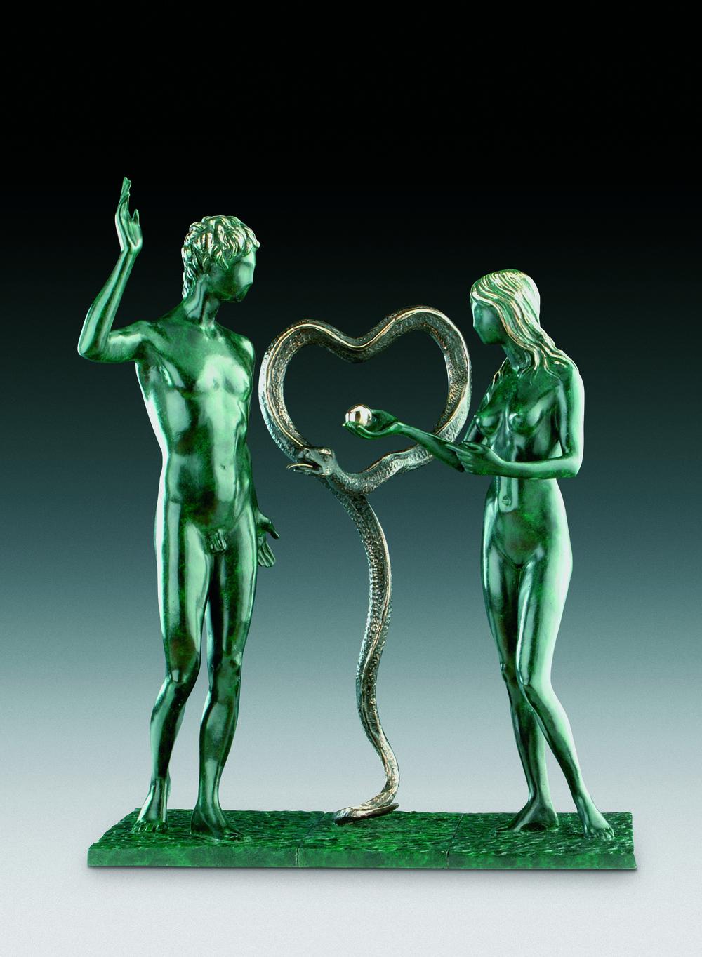 亞當與夏娃  52cm  銅