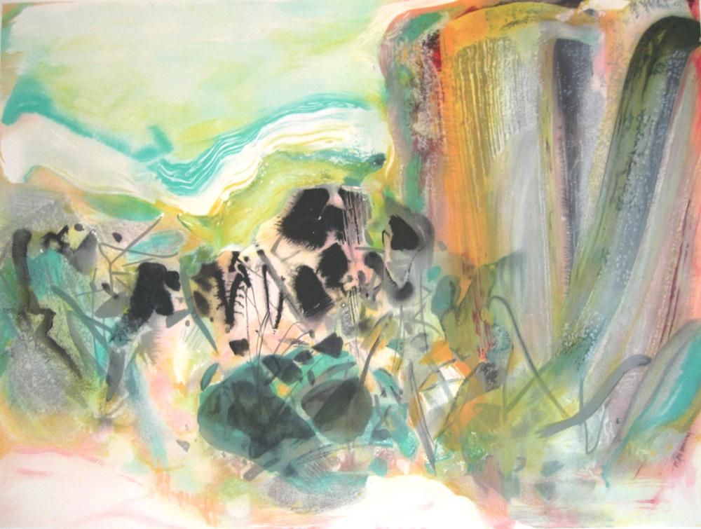 浪  60x75  2003  石版畫