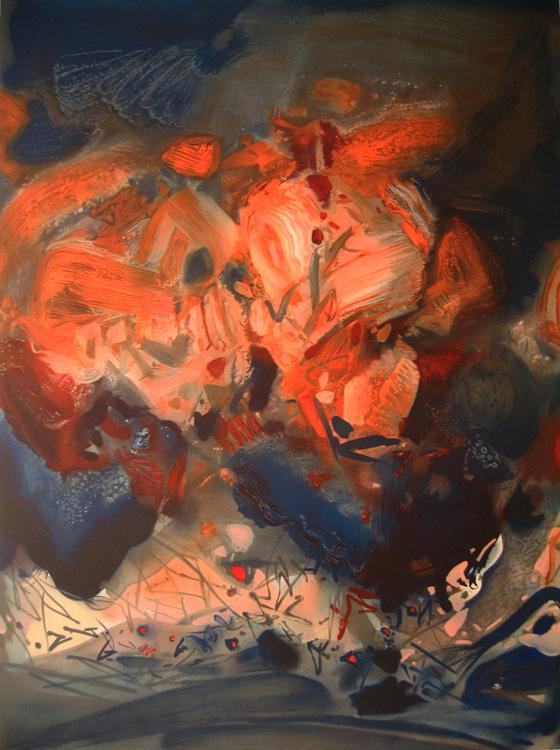 暮暉  60x75 cm  2003  石版畫