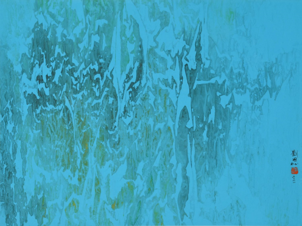 水影太湖山石 57.6x76.8 cm 2011 設色紙本