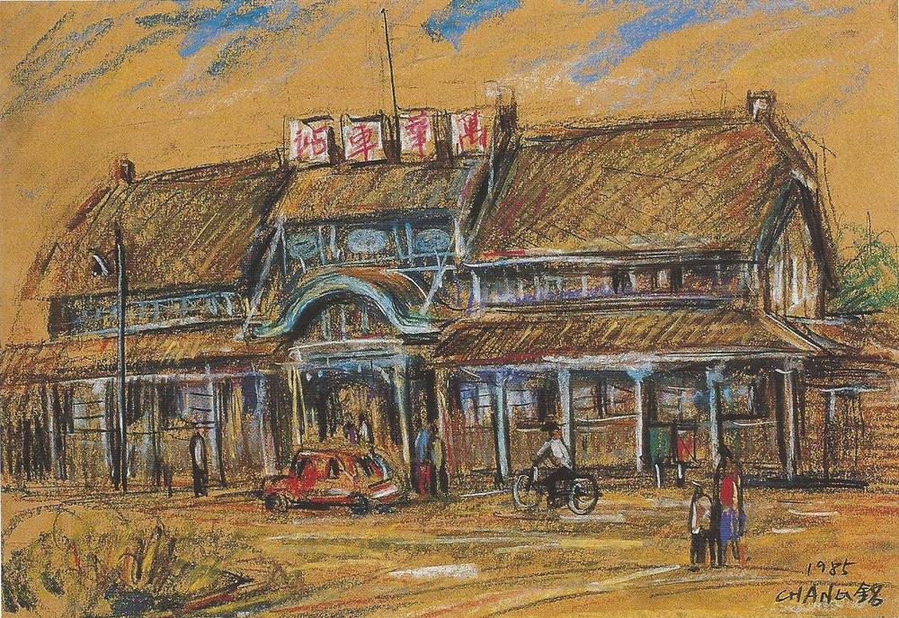 萬華車站 6F 39x27 cm 粉彩