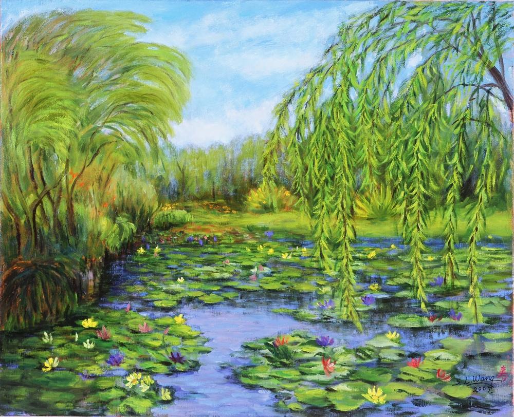 莫內花園(桃園觀音鄉) 15F 65x53 cm 油彩 畫布 2009