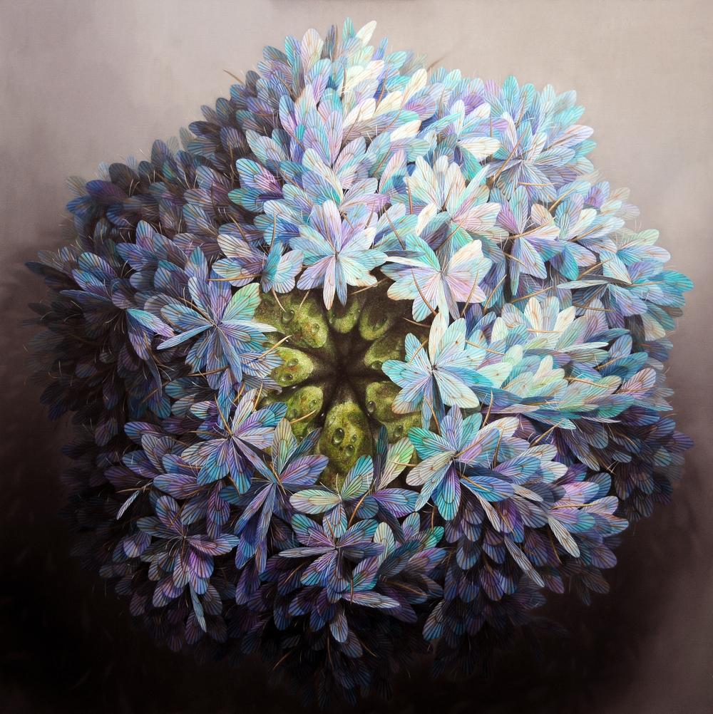 異界風景--萬眾之眼  152x152 cm  2015  油彩畫布