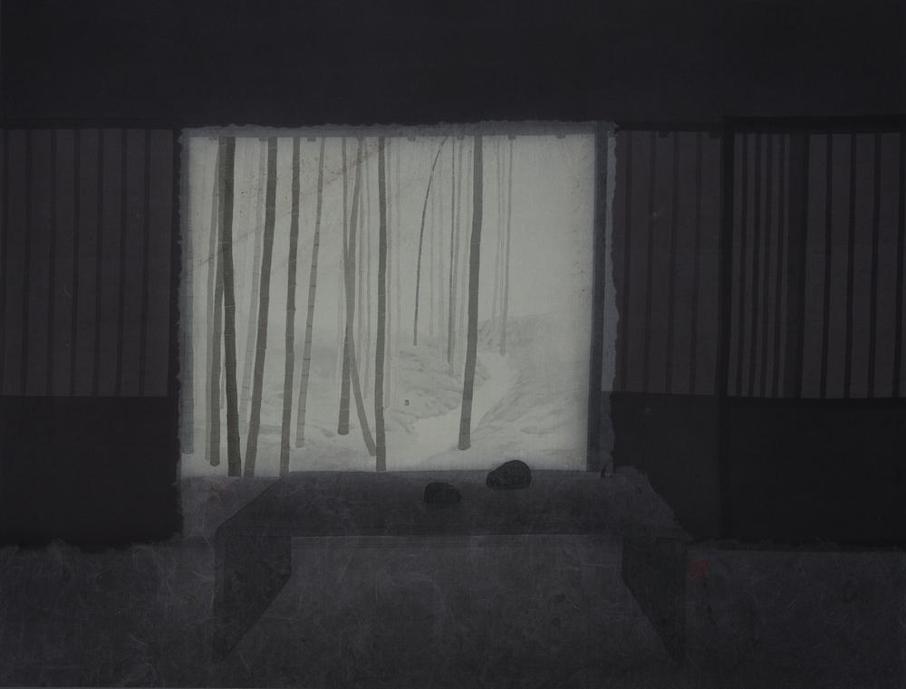 窗明  66x85 cm  2012  水墨絹本