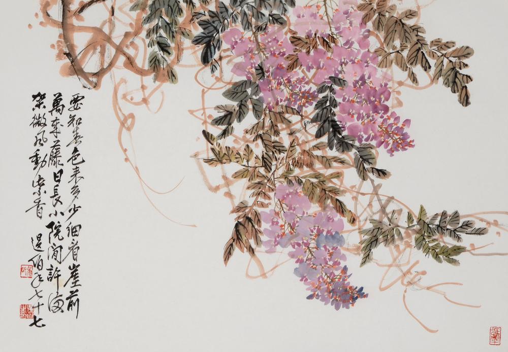 紫藤 33.5x69.5 cm 2010 墨彩紙本