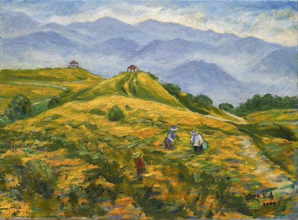 汪壽寧 花蓮六十石山 20P 72.5x53 cm 油彩 畫布 2004