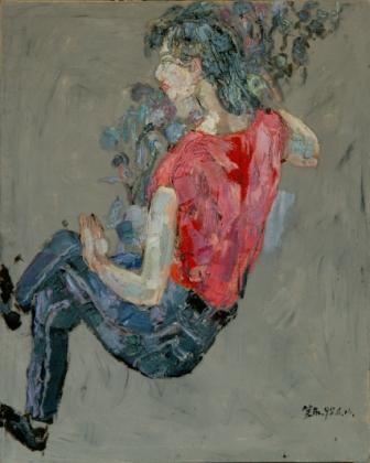 馮曉東 女郎 82x65 cm 油彩畫布 1995