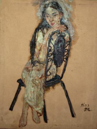 馮曉東 女人 63.5x49 cm 油彩畫布
