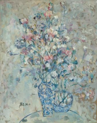 馮曉東 瓶花 90x72.5 cm 油彩畫布 1996