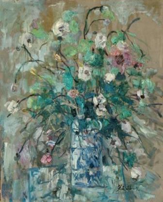 馮曉東 瓶花 81x65.5 cm 油彩畫布 1996