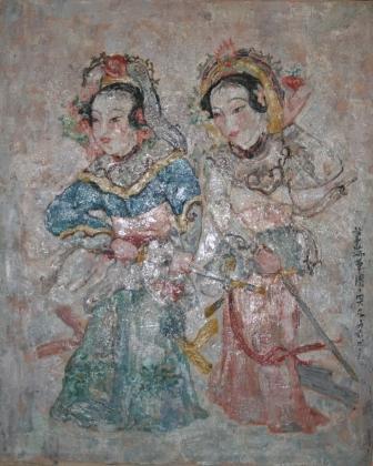 馮曉東 瑞草圖 91x72.5 cm 油彩畫布