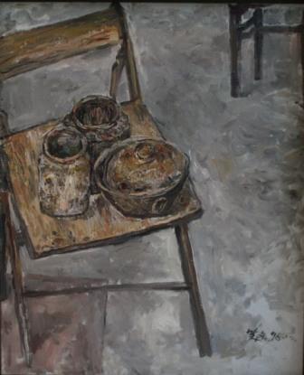 馮曉東 椅子靜物 65.5x80 cm 油彩畫布 1996
