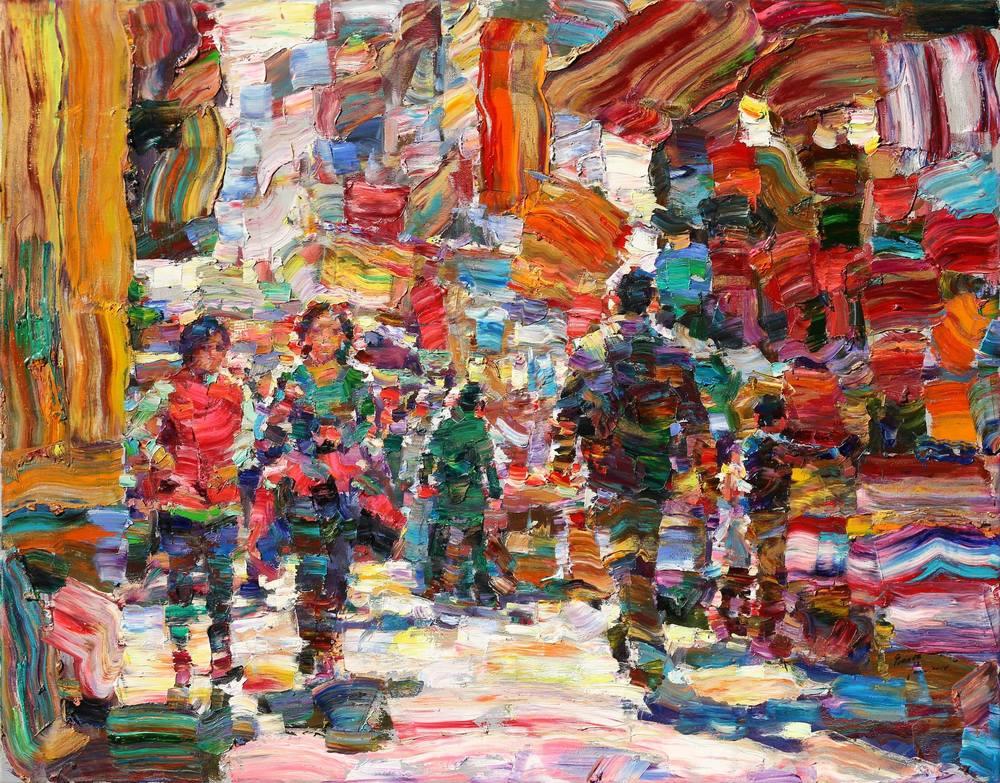 散步91x116.5 cm   2014   油彩畫布